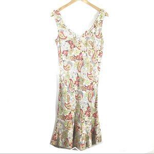 3/$25 CAbi Ruffle Sheath Dress Paisley Print